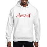 Moncrief, Vintage Red Hooded Sweatshirt