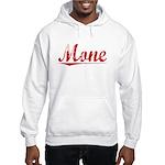 Mone, Vintage Red Hooded Sweatshirt