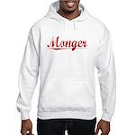 Monger, Vintage Red Hooded Sweatshirt