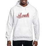 Monk, Vintage Red Hooded Sweatshirt