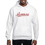 Monroe, Vintage Red Hooded Sweatshirt