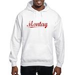 Montag, Vintage Red Hooded Sweatshirt