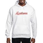 Montana, Vintage Red Hooded Sweatshirt