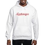 Montenegro, Vintage Red Hooded Sweatshirt