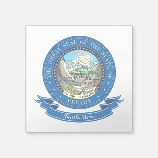 """Nevada Seal.png Square Sticker 3"""" x 3"""""""
