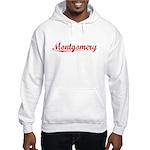 Montgomery, Vintage Red Hooded Sweatshirt