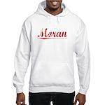 Moran, Vintage Red Hooded Sweatshirt
