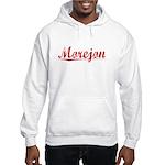 Morejon, Vintage Red Hooded Sweatshirt
