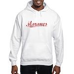 Morones, Vintage Red Hooded Sweatshirt