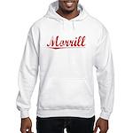 Morrill, Vintage Red Hooded Sweatshirt