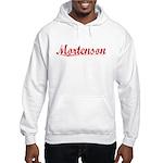 Mortenson, Vintage Red Hooded Sweatshirt