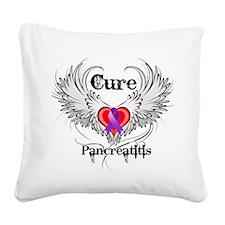 Cure Pancreatitis Square Canvas Pillow