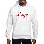 Moye, Vintage Red Hooded Sweatshirt