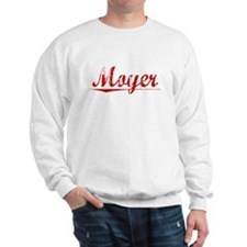 Moyer, Vintage Red Sweatshirt