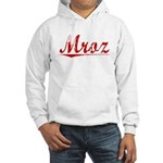 Mroz, Vintage Red Hooded Sweatshirt