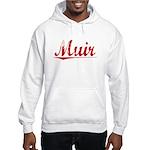Muir, Vintage Red Hooded Sweatshirt