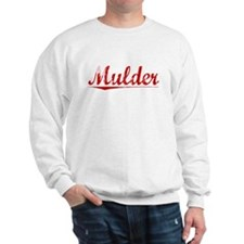 Mulder, Vintage Red Sweatshirt