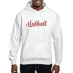 Mulhall, Vintage Red Hooded Sweatshirt