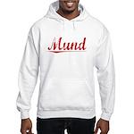 Mund, Vintage Red Hooded Sweatshirt