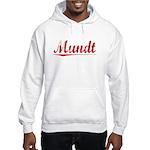 Mundt, Vintage Red Hooded Sweatshirt