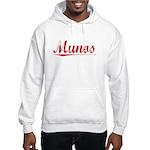 Munos, Vintage Red Hooded Sweatshirt