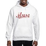 Muse, Vintage Red Hooded Sweatshirt