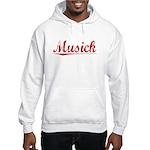 Musick, Vintage Red Hooded Sweatshirt