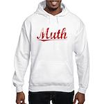 Muth, Vintage Red Hooded Sweatshirt