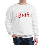 Muth, Vintage Red Sweatshirt