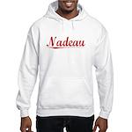 Nadeau, Vintage Red Hooded Sweatshirt