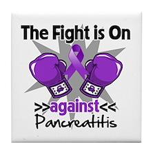 Fight is On Pancreatitis Tile Coaster