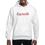 Nawrocki, Vintage Red Hooded Sweatshirt