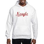 Neagle, Vintage Red Hooded Sweatshirt