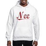 Nee, Vintage Red Hooded Sweatshirt