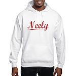 Neely, Vintage Red Hooded Sweatshirt