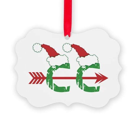 Cross Country Christmas Picture Ornament