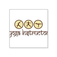 Yoga Instructor Rectangle Sticker