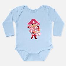 Captain Miss Monkie Long Sleeve Infant Bodysuit