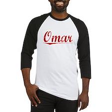 Omar, Vintage Red Baseball Jersey