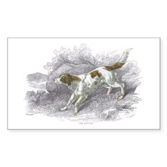 Setter Dog Rectangle Decal