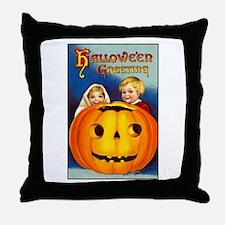 Victorian Halloween Children Throw Pillow