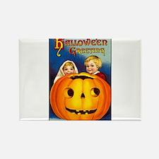 Victorian Halloween Children Rectangle Magnet