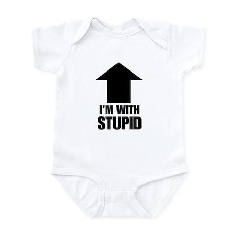 I'm With Stupid (up arrow) Infant Creeper