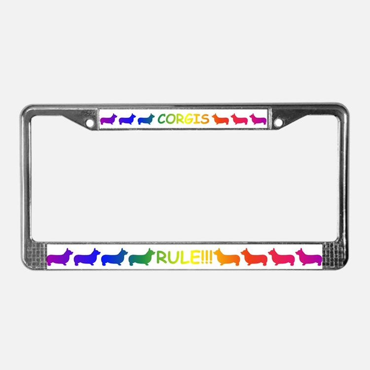 Corgi License Plate Frame