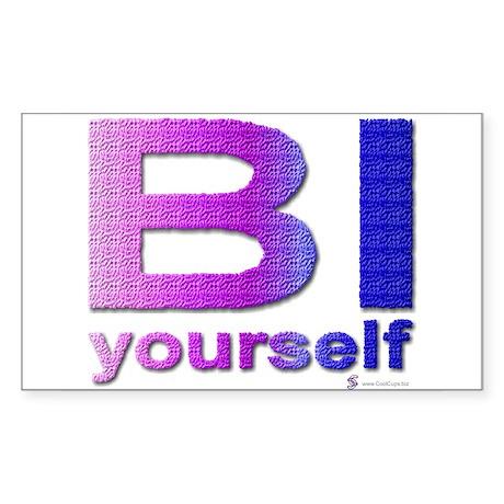 BI yourself Rectangle Sticker