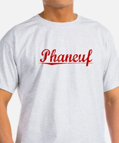 Phaneuf, Vintage Red T-Shirt