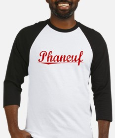 Phaneuf, Vintage Red Baseball Jersey