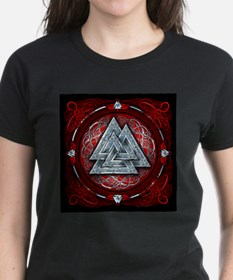 Norse Valknut Tapestry - Red Tee