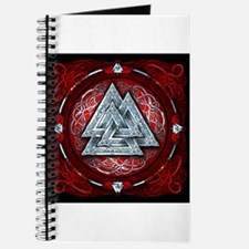 Norse Valknut Tapestry - Red Journal