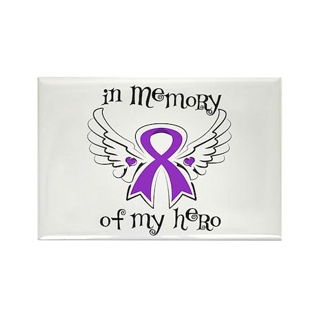 In Memory Hero Pancreatitis Rectangle Magnet